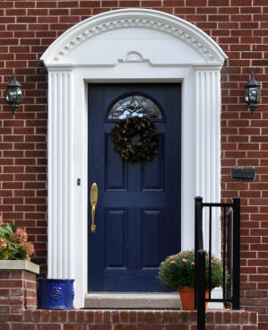 what does a blue front door mean feng shui for your home
