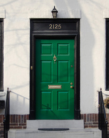what does a green front door mean meaning of a green