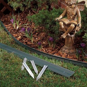 how to install plastic landscape and garden edging border - Plastic Garden Edging
