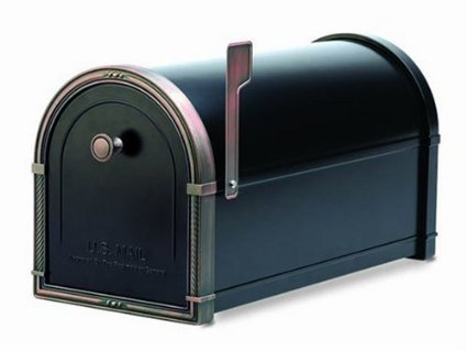 Architectural-Mailboxes-Coronado-Mailbox-with-Antique-Copper-Accents-Black