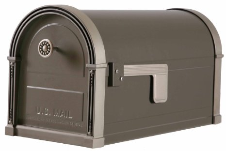 Gibraltar-HM16NL01-Mailboxes-High-Grove-Post-Mount-Mailbox-in-Light-Bronze